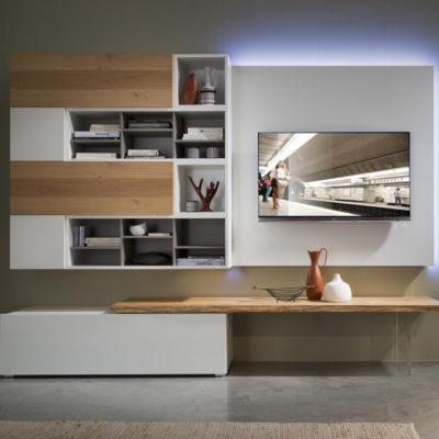 Tender COD. 109 - Mobile parete attrezzata per soggiorno L.256 cm MAB