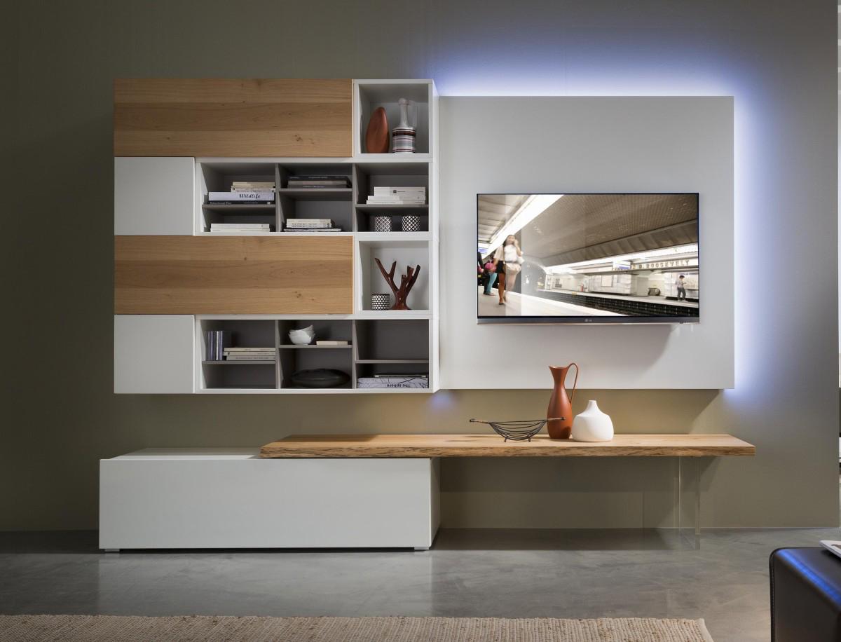 Tender COD. 109 - Mobile parete attrezzata per soggiorno L.256 cm ...