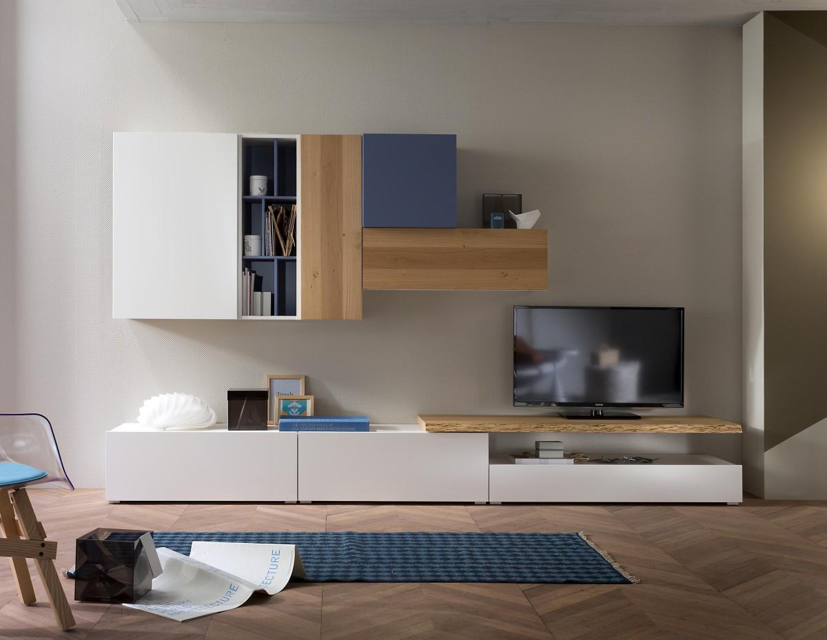 Tender cod 107 mobile parete attrezzata per soggiorno l for Soluzioni arredo soggiorno