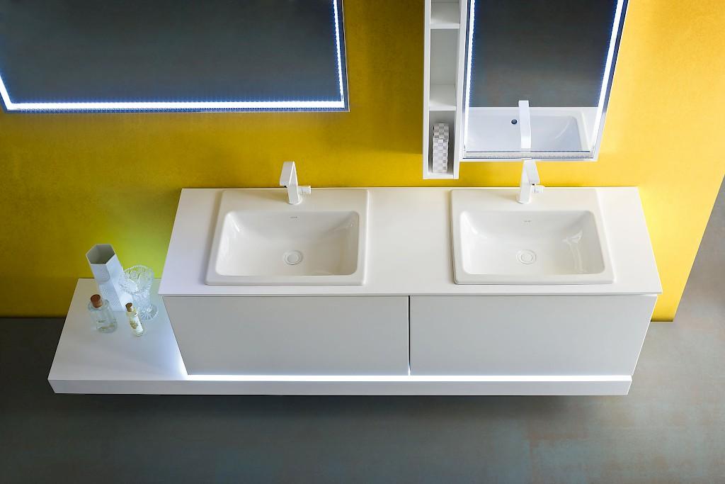 jacana ja20 - mobile luxury arredo bagno l.225 cm personalizzabile ... - Arredo Bagno Massa