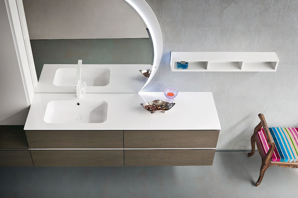 jacana ja23 ? mobile luxury arredo bagno l.256+95 cm ... - Arredo Bagno Luxury