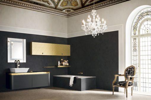 JACANA JA26 - Mobile luxury arredo bagno L.152,4+190 cm personalizzabile COMPAB