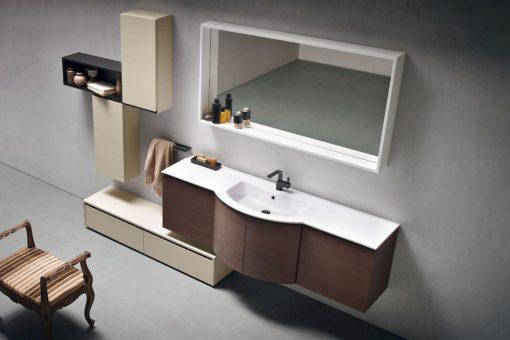 JACANA JA29 - Mobile luxury arredo bagno L.71+140+70 cm personalizzabile COMPAB