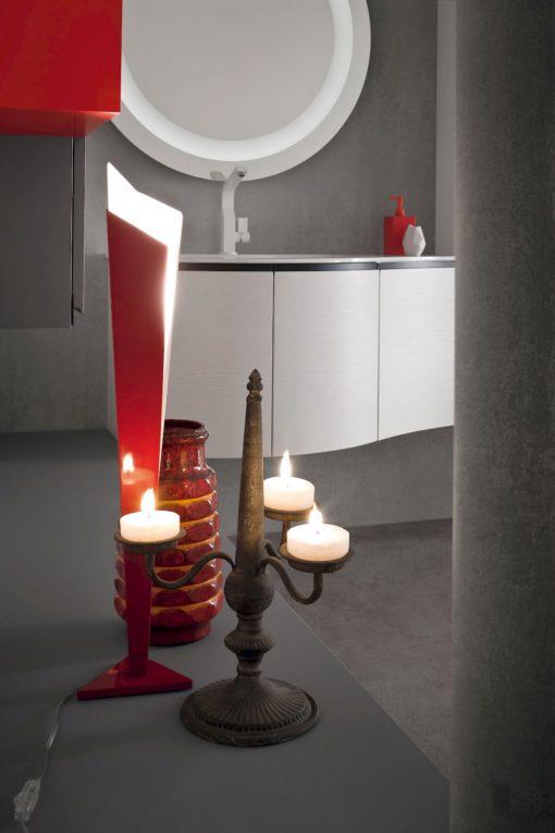 JACANA JA31 - Mobile luxury arredo bagno L.247+216 cm personalizzabile COMPAB