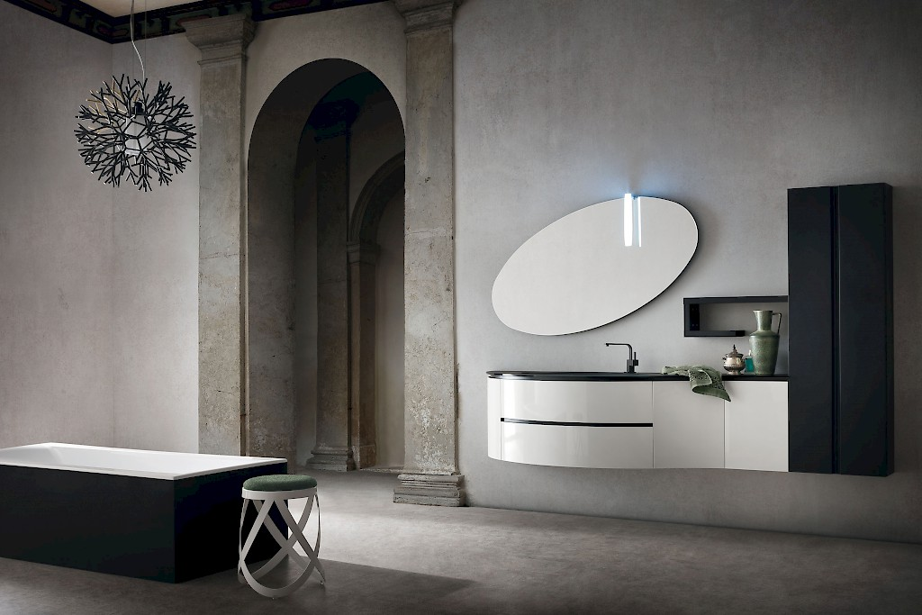 JACANA JA38 - Mobile luxury arredo bagno L.241 cm personalizzabile ...