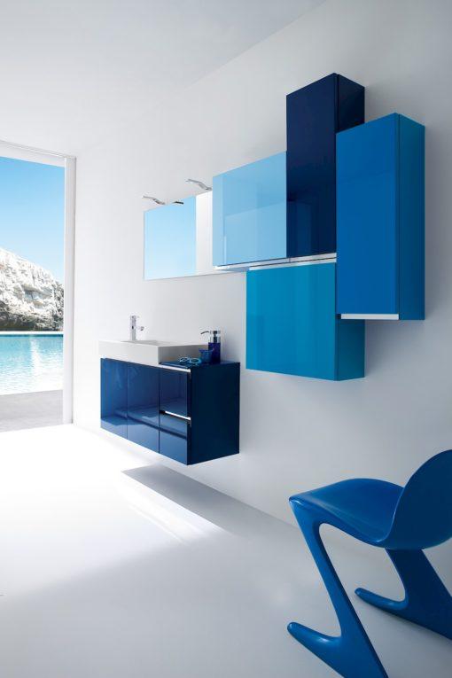 JACANA JA4 - Mobile luxury arredo bagno L.96+50+25+25 cm personalizzabile COMPAB