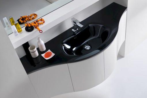 JACANA JA9 - Mobile luxury arredo bagno L.140 cm personalizzabile COMPAB