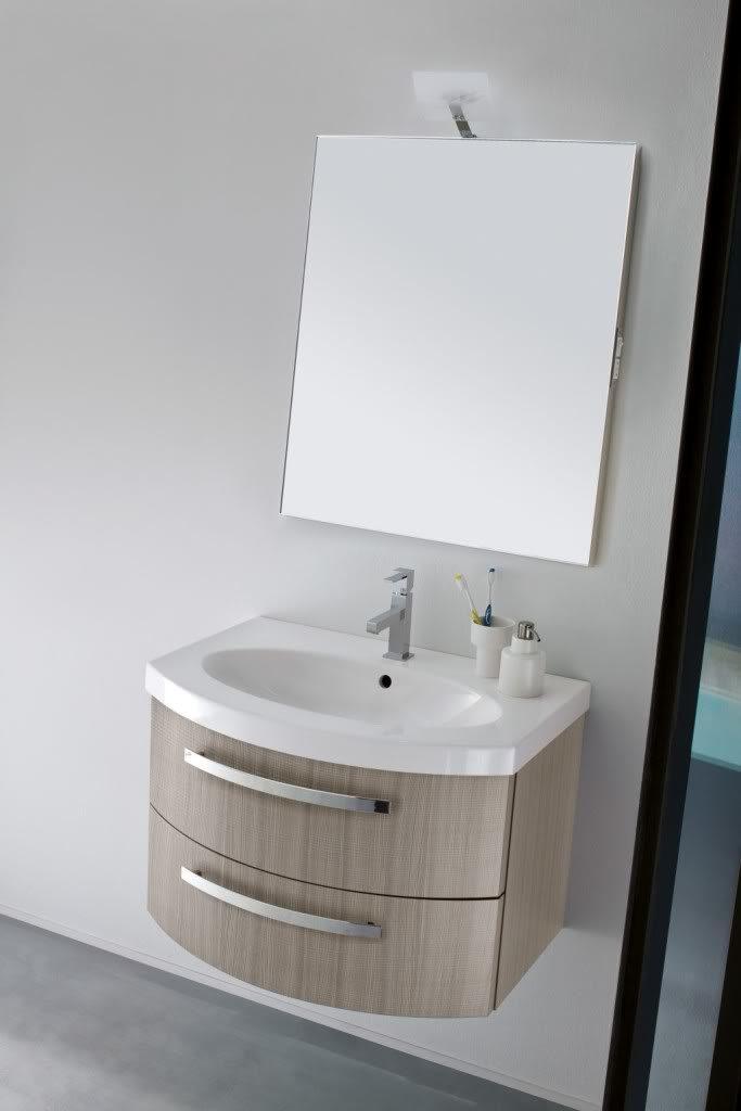 B201 Poker 075 – Mobile arredo bagno curvo L.71 cm personalizzabile ...