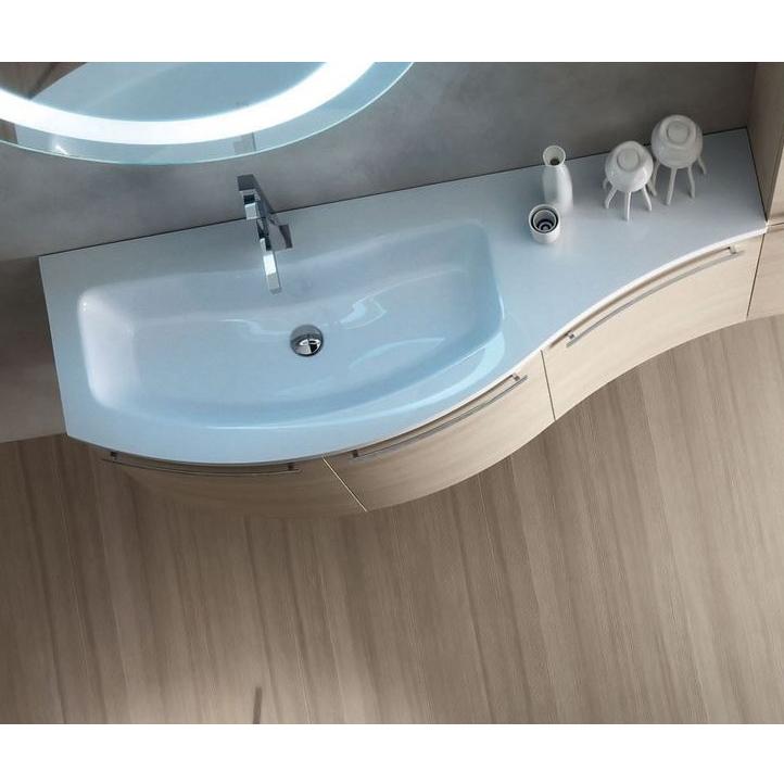 ELY W705 - Mobile arredo bagno design curvo L.120,5 cm ...