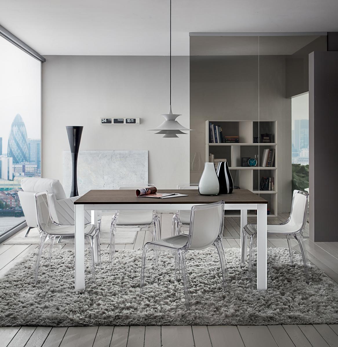 Mario tavolo per cucina o soggiorno moderno interno77 - Tavolo cucina moderno ...