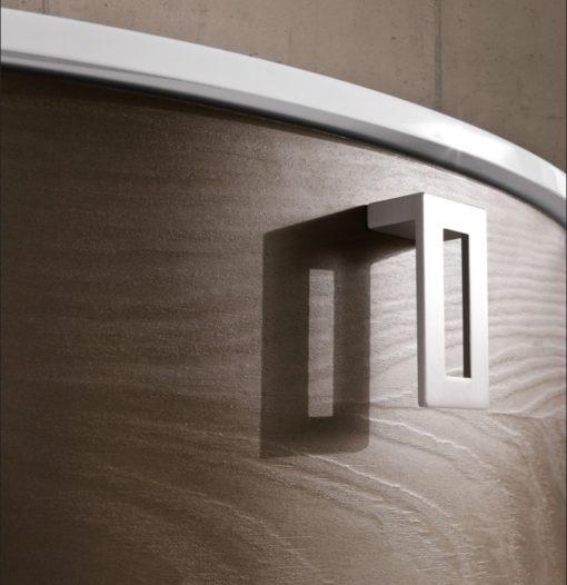 CHEN CN9 – Mobile arredo bagno design curvo L.106 cm personalizzabile COMPAB
