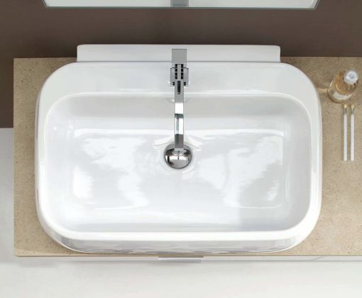 AR-FR09 - Mobile arredo bagno design frassinato L.135 cm personalizzabile COMPAB