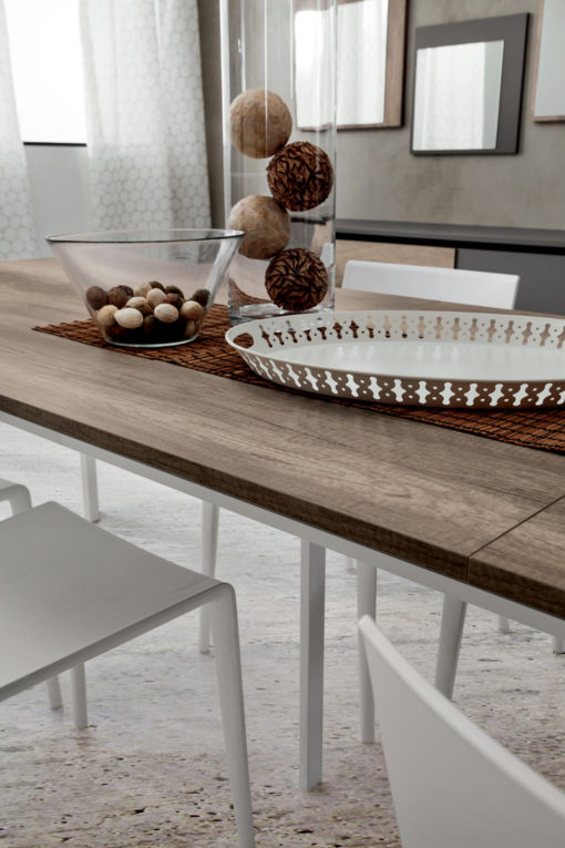 Mario Super - Tavolo allungabile per cucina o soggiorno moderno