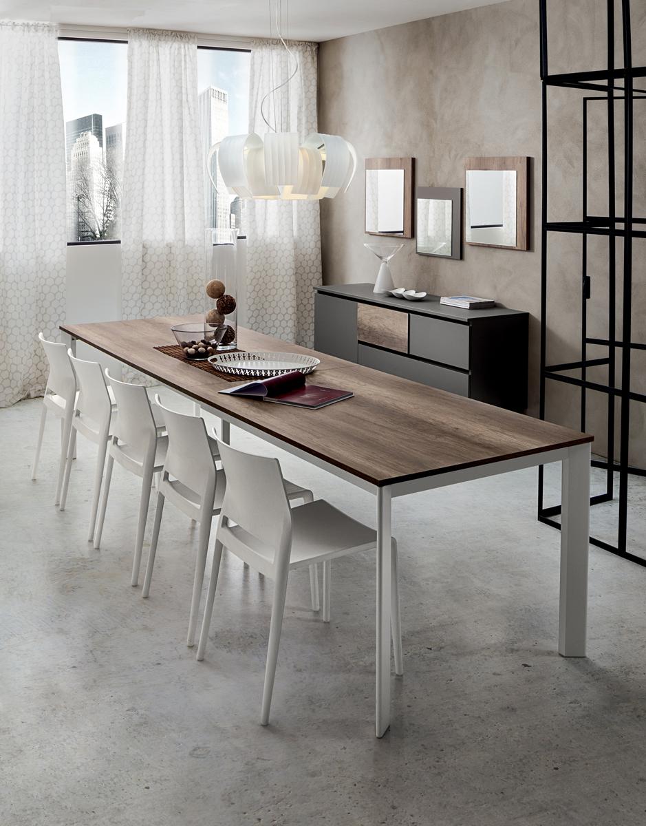 Mario super tavolo allungabile per cucina o soggiorno for Tavolo allungabile moderno