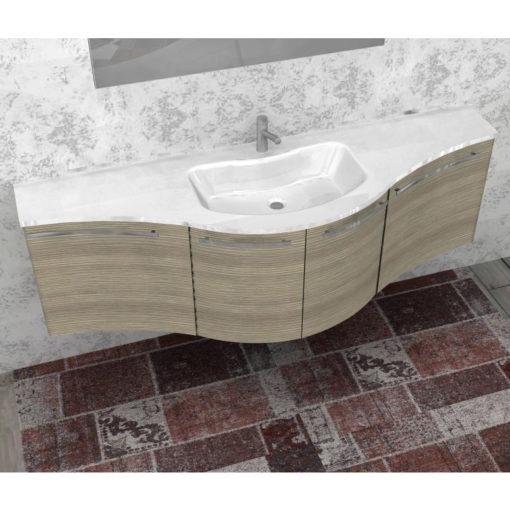 ELY W709 - Mobile arredo bagno design curvo L.171 cm personalizzabile ARCOM