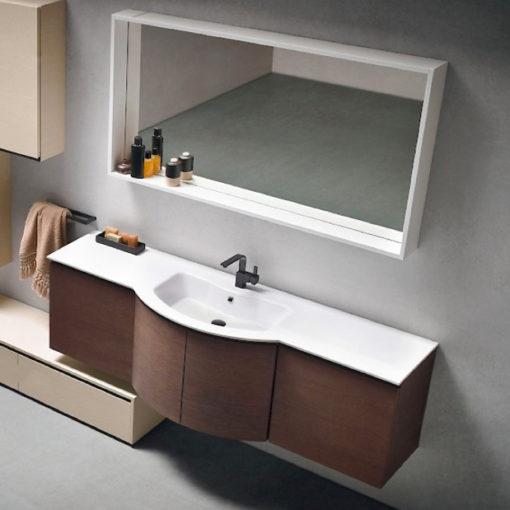 B201 Versus A604 – Mobile arredo bagno curvo L.171 cm personalizzabile COMPAB