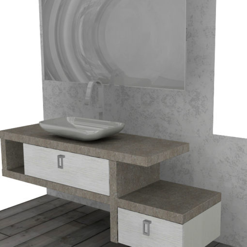 PK75 - Mobile arredo bagno design L.167 cm personalizzabile COMPAB