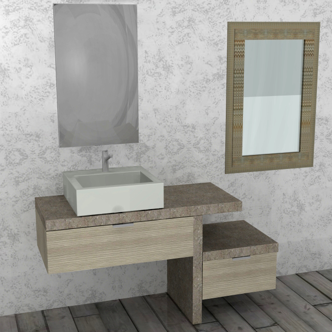 pk77 mobile arredo bagno design l141 cm personalizzabile compab