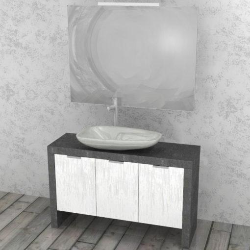 LY51 - Mobile arredo bagno design con 3 sportelli L.117 cm personalizzabile COMPAB