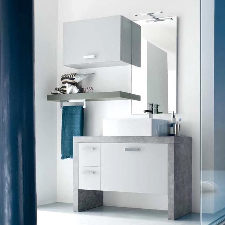 Ch19 mobile arredo bagno design a terra cm personalizzabile compab interno77 - Mobili bagno compab ...