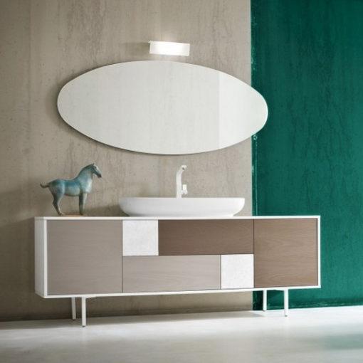 CHEN CN1 - Mobile arredo bagno design a cassetti L.199 cm personalizzabile COMPAB