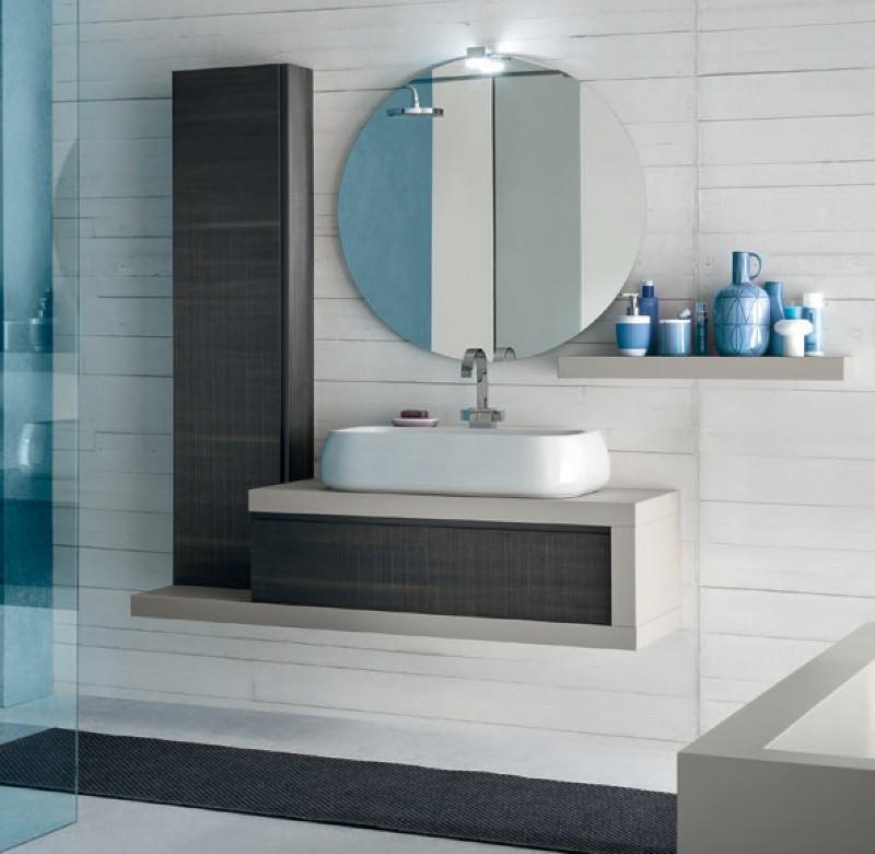 Bg17 mobile arredo bagno design cm - Mobili bagno a terra moderni ...