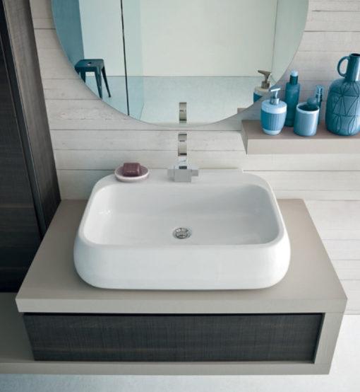 BG17 - Mobile arredo bagno design L.136 cm personalizzabile COMPAB
