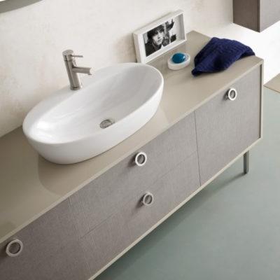 TT15 - Mobile arredo bagno design con finitura L.174 cm personalizzabile COMPAB