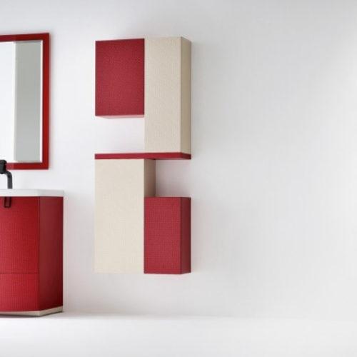 BARBET BB2 – Mobile arredo bagno elegante curvo L.71 cm personalizzabile COMPAB