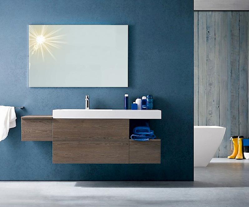 B201 28 - Mobile arredo bagno moderno L.156 cm personalizzabile ...