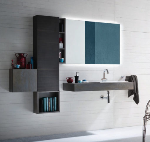 B-GO BG10 - Mobile arredo bagno design L.188 cm personalizzabile COMPAB