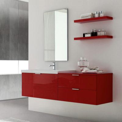 LY01 - Mobile arredo bagno design L.155 cm personalizzabile COMPAB