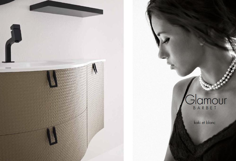 Mobile Da Bagno Glamour : Barbet bb u mobile arredo bagno elegante curvo l cm