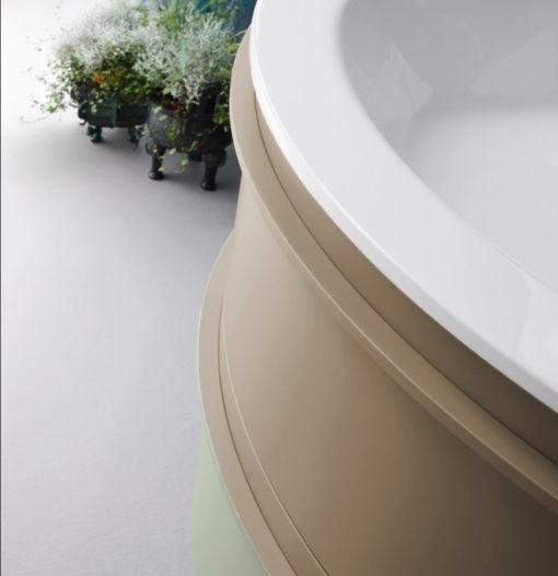 B201 A609 Versus – Mobile arredo bagno design curvo L.106 cm personalizzabile COMPAB