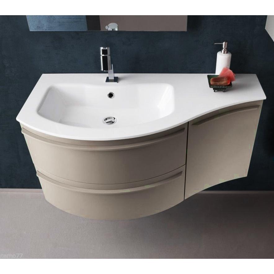 B201 A609 Versus Mobile Arredo Bagno Design Curvo L 106 Cm Personalizzabile Compab Interno77 Soluzioni D Arredo
