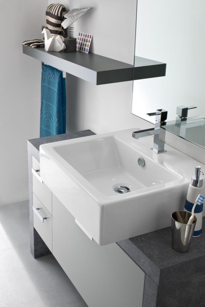CH19 - Mobile arredo bagno design a terra L.107+90 cm ...