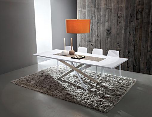Renzo - Tavolo design accattivante con gambe incrociate