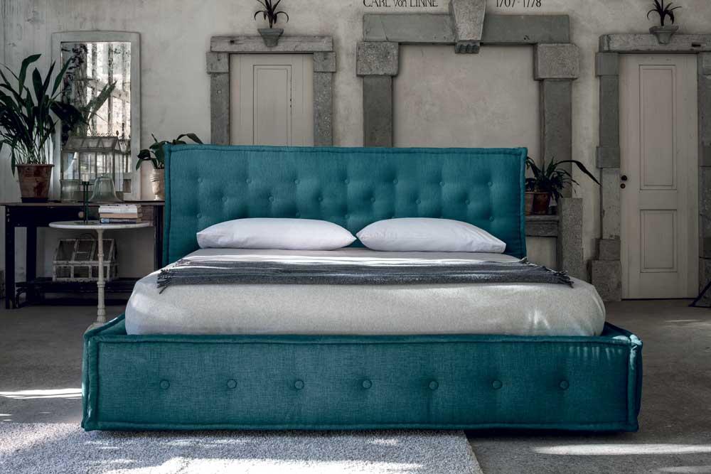 Flexform Comfort Raffinato : Comfort letto matrimoniale raffinato imbottito in