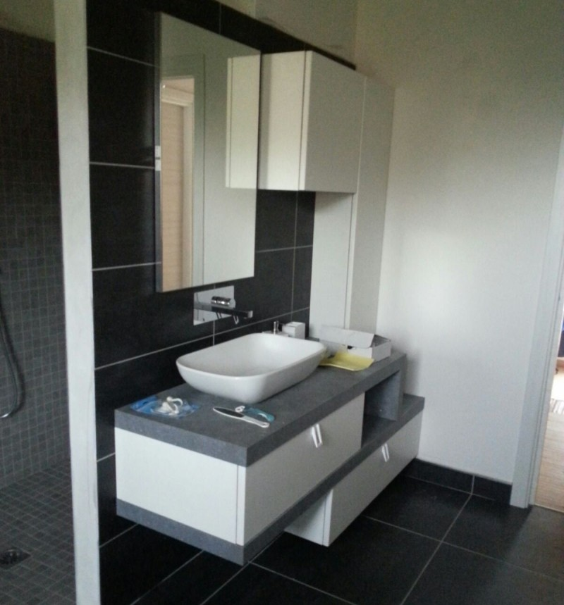 El20 mobile arredo bagno design sospeso cm personalizzabile compab interno77 - Arredo bagno sospeso ...