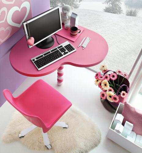 Scrivania angolo con sedia per cameretta cuore ebay for Sedia scrivania design