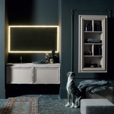 Delichon DH11 - Mobile luxury arredo bagno L 141+70 x P 56/20,8 cm personalizzabile COMPAB