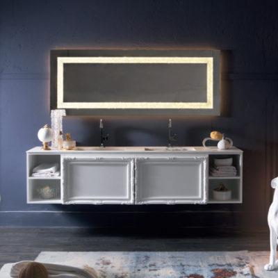 Delichon DH17 - Mobile luxury arredo bagno L 211 x P 56 cm personalizzabile COMPAB