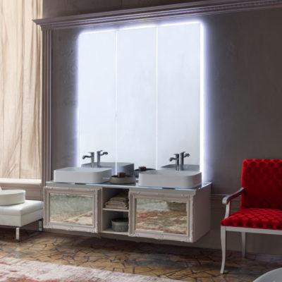 Delichon DH16 - Mobile luxury arredo bagno L 176 x P 56 cm personalizzabile COMPAB
