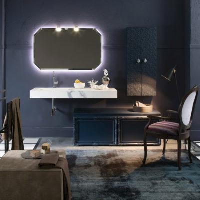 Delichon DH19 - Mobile luxury arredo bagno L 140+141 x P 51/43/20,8 cm personalizzabile COMPAB
