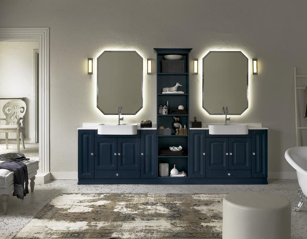 Acanthis ac18 mobile luxury arredo bagno l 293 x p 38 42 cm