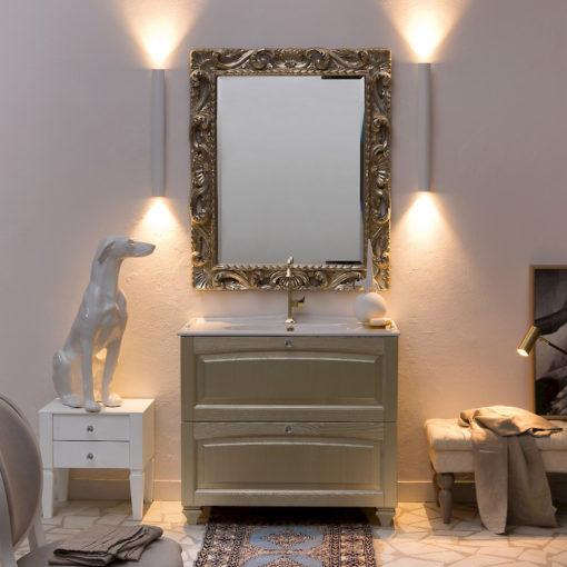 Acanthis AC21 - Mobile luxury arredo bagno L 47+97 x P 38/52 cm personalizzabile COMPAB