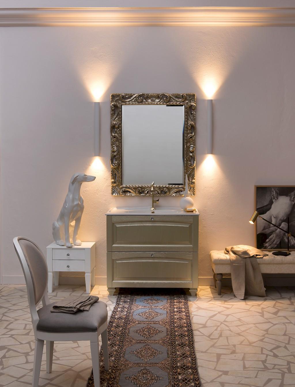 Acanthis AC21 - Mobile luxury arredo bagno L 47+97 x P 38/52 cm ...
