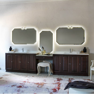 Acanthis AC19 - Mobile luxury arredo bagno L 353 x P 51,5 cm personalizzabile COMPAB