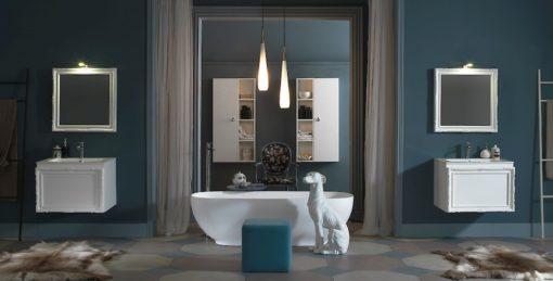 Delichon DH18 - Mobile luxury arredo bagno L 70,5+60 x P 56/20,8 cm personalizzabile COMPAB