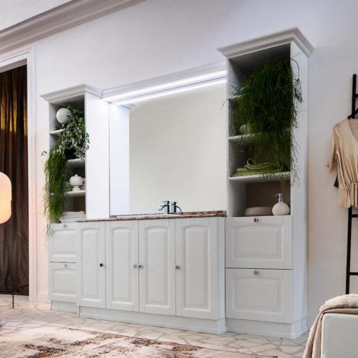 Acanthis AC17 - Mobile luxury arredo bagno L 250 x P 56 cm personalizzabile COMPAB